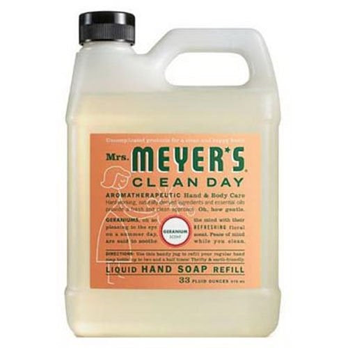 Mrs. Meyer's Clean Day, Liquid Hand Soap Refill Pouch with Geranium 33 oz