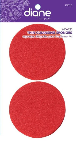 Diane Thin Cleansing Sponges - Red - 2 Pack - BEAUTY IT IS