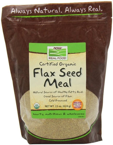 Now Foods Organic Flax Seed Meal, 22-Ounce - BEAUTY IT IS