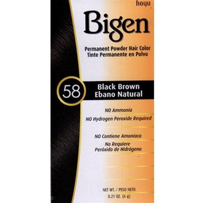 Bigen Powder Hair Color #58 Black Brown .21 oz.