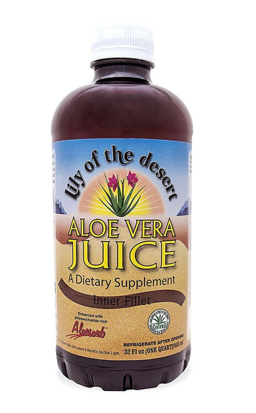 Lily of The Desert Aloe Vera Juice Inner Fillet, 32 Fluid Ounce