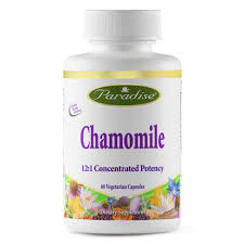 Paradise Herbs Chamomile 12:1 250 mg 60 Vcaps