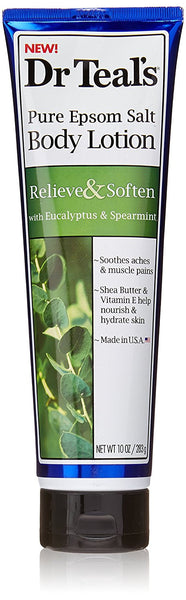 Dr Teal's Relieve & Soften with Eucalyptus & Spearmint Body Lotion, 10 oz