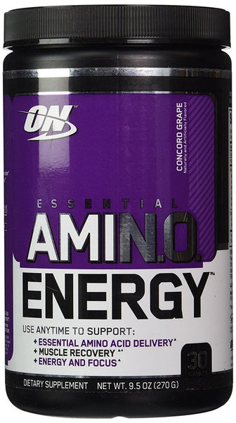 Optimum Nutrition Essential Amino Energy Concord Grape - 30 Servings, 9.5 oz