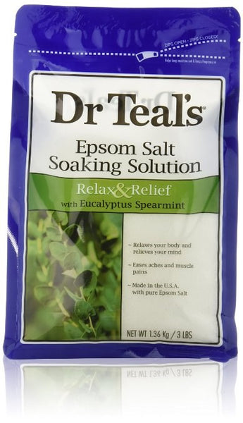Dr. Teal's Epsom Salt Soaking Solution with Eucalyptus Spearmint, 3lbs - BEAUTY IT IS