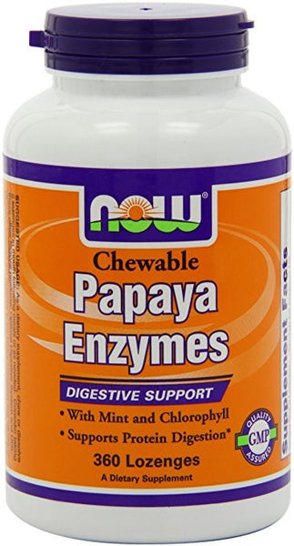 Now Foods Papaya Enzyme, 360 Chewable Lozenges