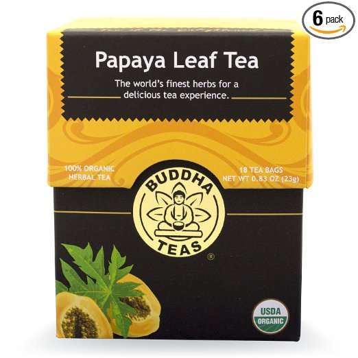 Buddha Teas Papaya Leaf Herbal Tea, 18 Bleach-Free Tea Bags