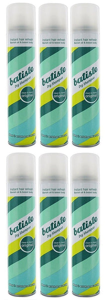Batiste Dry Shampoo - Original Fragrance, 6.73 Oz, Lot of 6