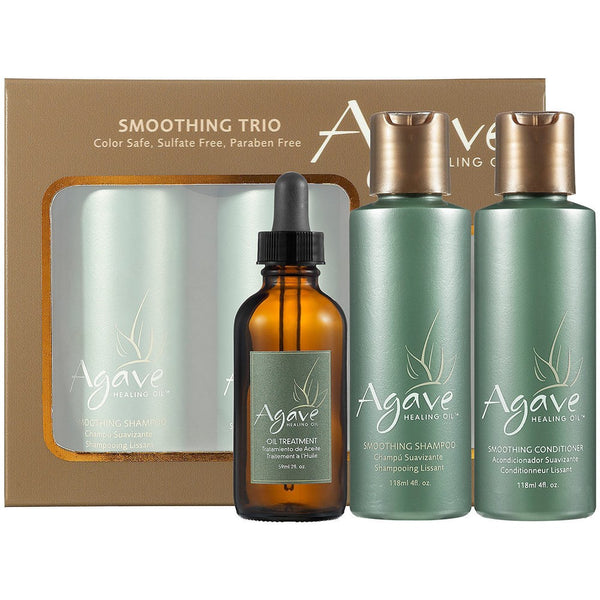 Agave Take-Home Smoothing Haircare Trio - includes 2 oz. Oil Treatment