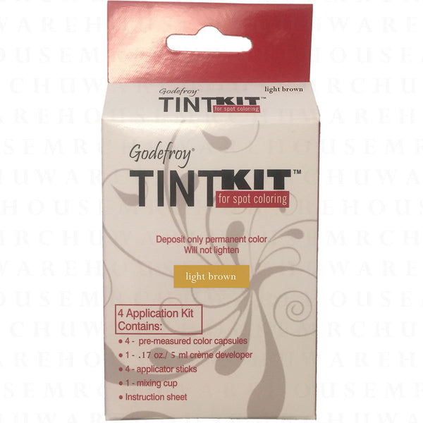 Godefroy Professional Tint Kit, Light Brown, 4 applications