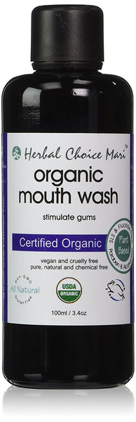 Herbal Choice Mari Organic Mouth Wash 100ml/3.4 oz