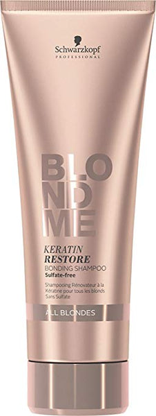 Schwarzkopf Blondme Keratin Restore Bonding Shampoo for All Blondes 8.45 Ounce