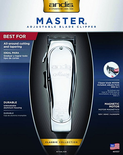 Andis Master Clipper (Metal Finish), 32 oz
