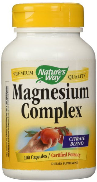 Nature's Way Magnesium Complex, 100 Capsules