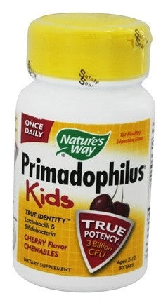 Nature's Way Primadophilus for Kids, Cherry, 30 Count Chewables