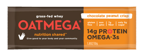 Oatmega Chocolate Peanut Crisp, 1.8 oz