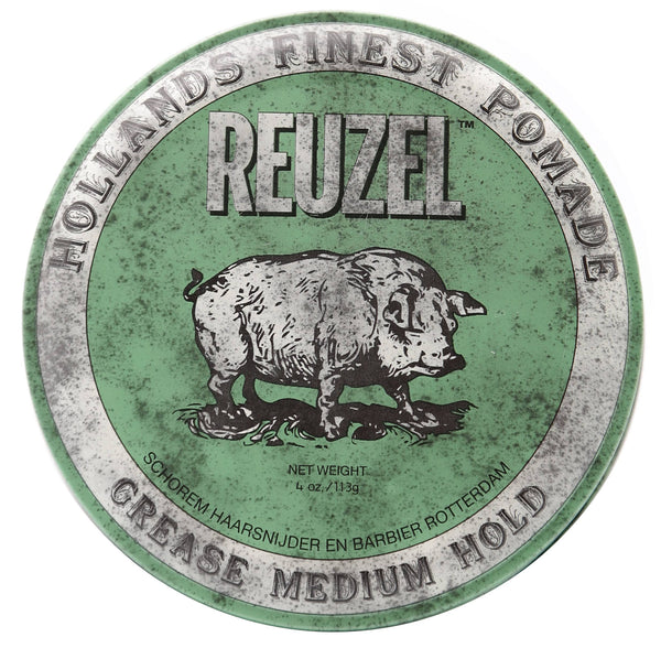 Reuzel Green Grease Medium Hold Pomade, 4 oz
