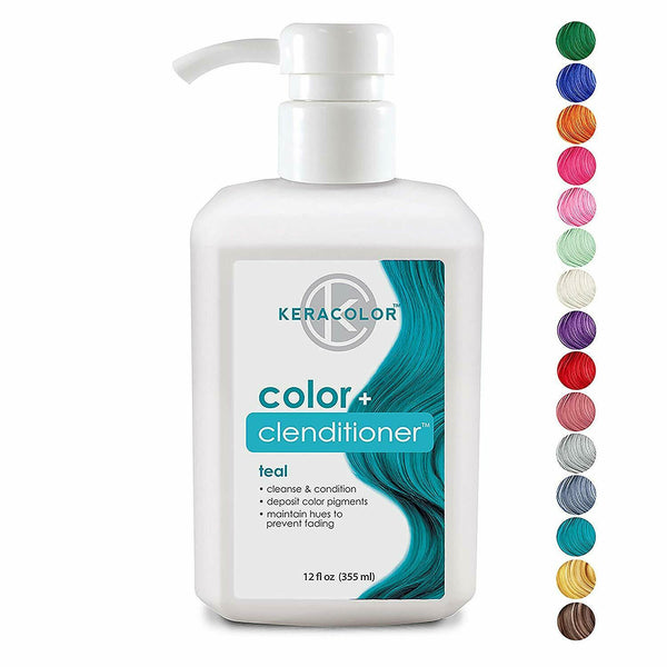 Keracolor Color Plus Clenditioner Teal 12 Ounce