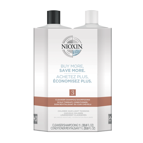 Nioxin System 3 Cleanser & Scalp Therapy Conditioner Duo 33.8 oz