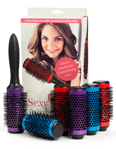 Sexy Curl Blowout Brush Set with Detachable Barrels