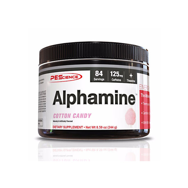 PEScience ALPHAMINE COTTON CANDY 84/SERV, 8.59 ounces