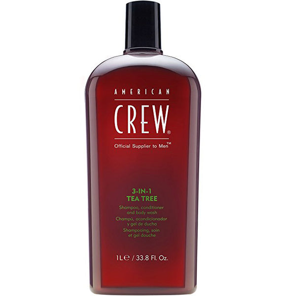 American Crew 3-in-1 Tea Tree Body Wash, Shampoo, Conditioner