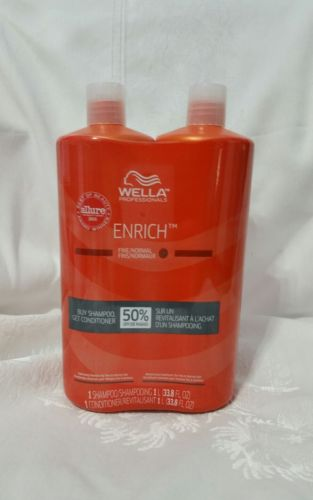 Wella Brilliance Shampoo and Conditioner Duo For Fine Hair, 33.8 ounces