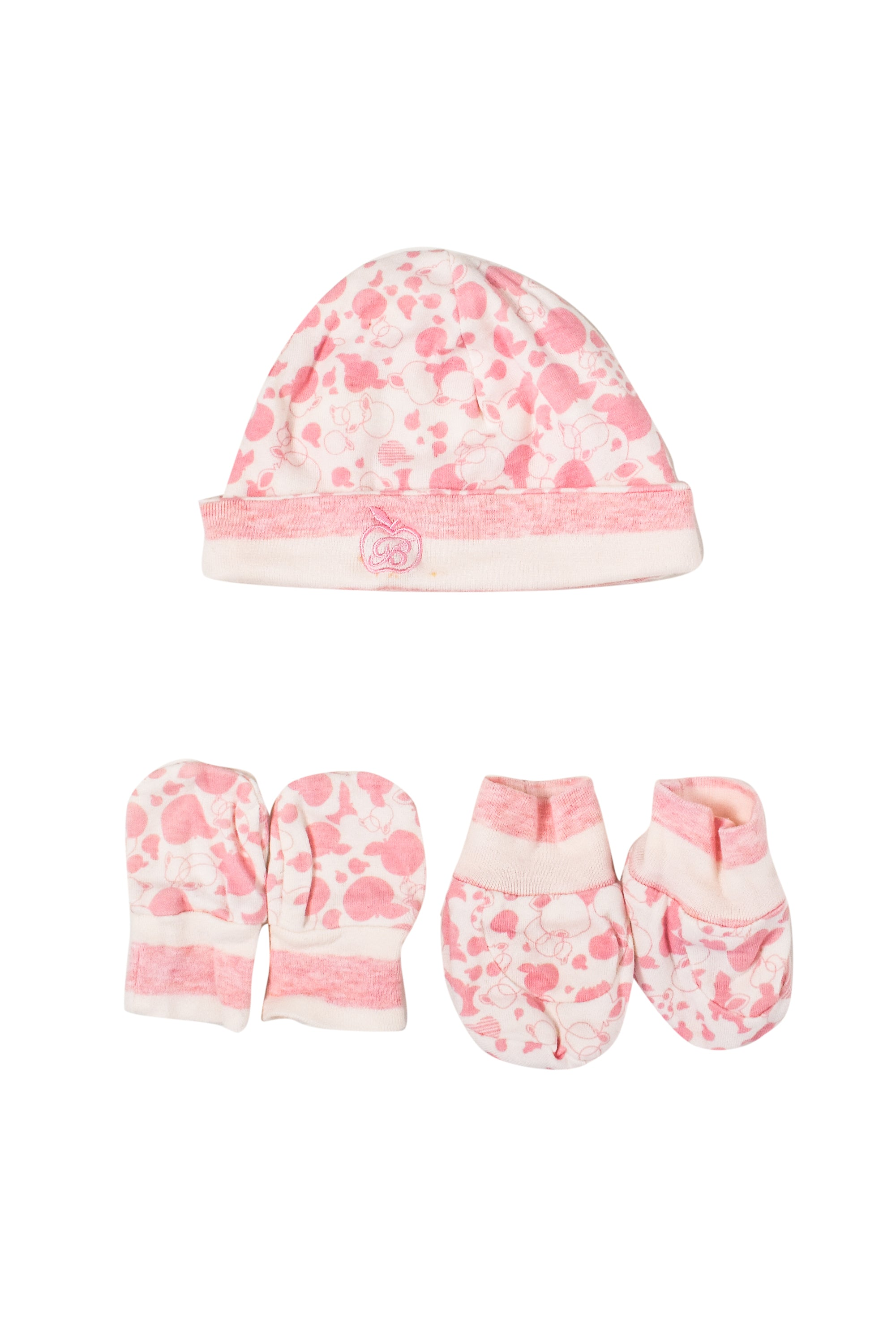 10006767 Bonnie Baby~Hat, Mittens and Booties NB at Retykle