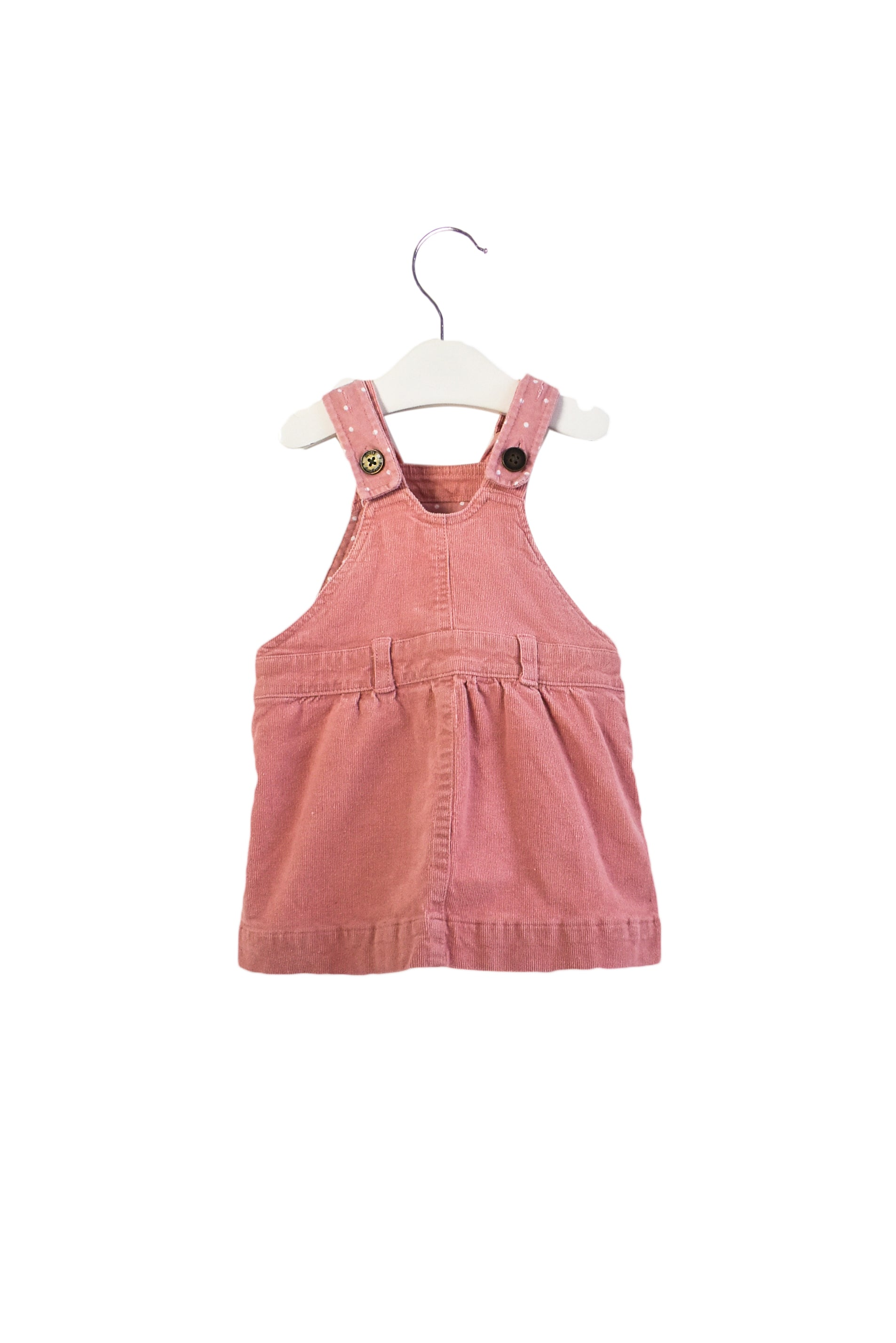 10013343 Dotty Dungarees Baby ~ Pinafore 6-12M at Retykle