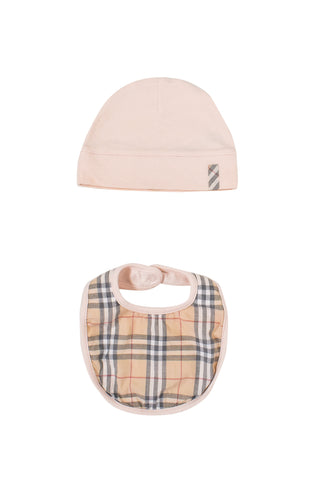 10011666 Burberry Baby ~ Hat, Bib and Bodysuit Set 6M at Retykle