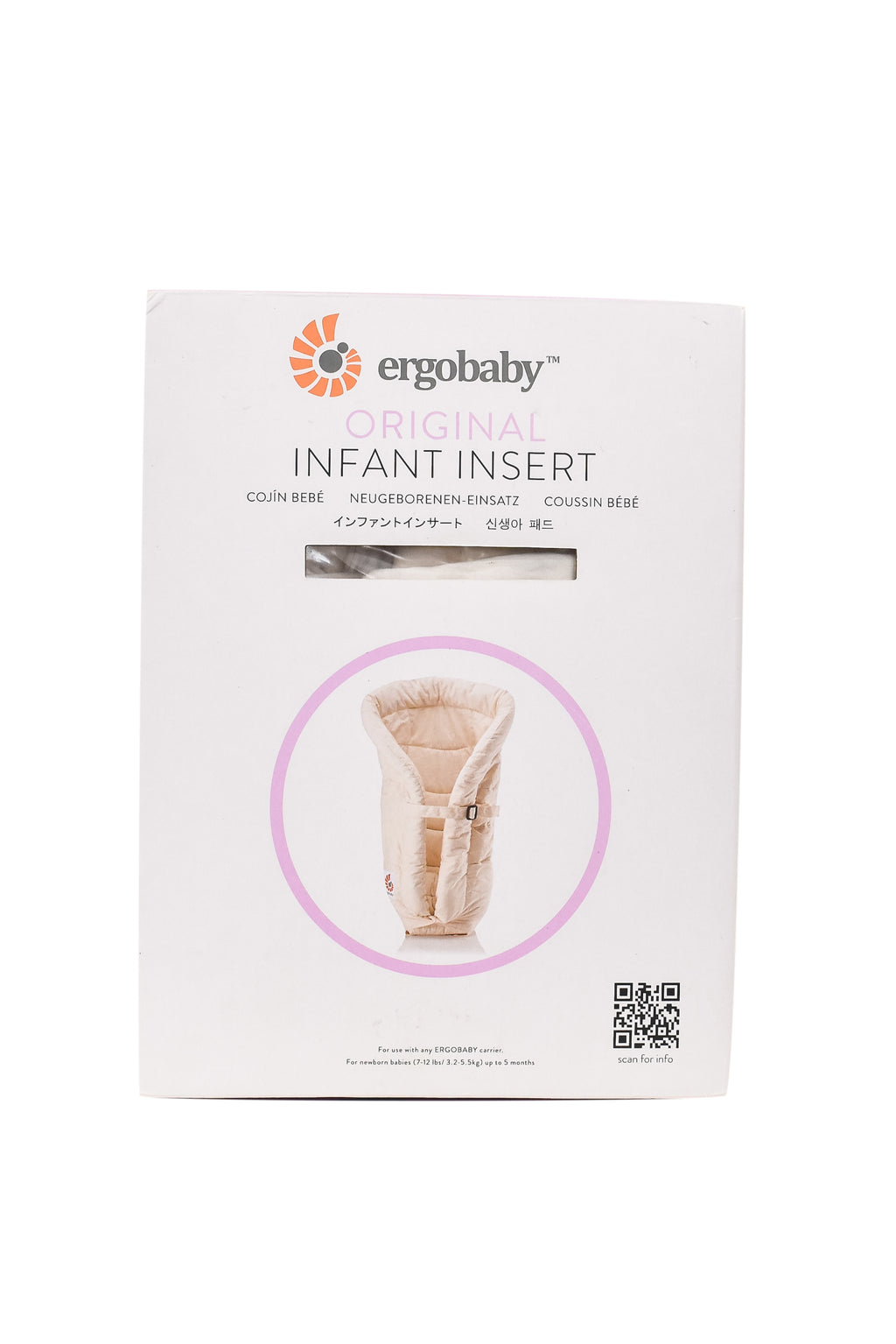 10033638 Ergobaby Baby~Infant Insert 0-5M at Retykle