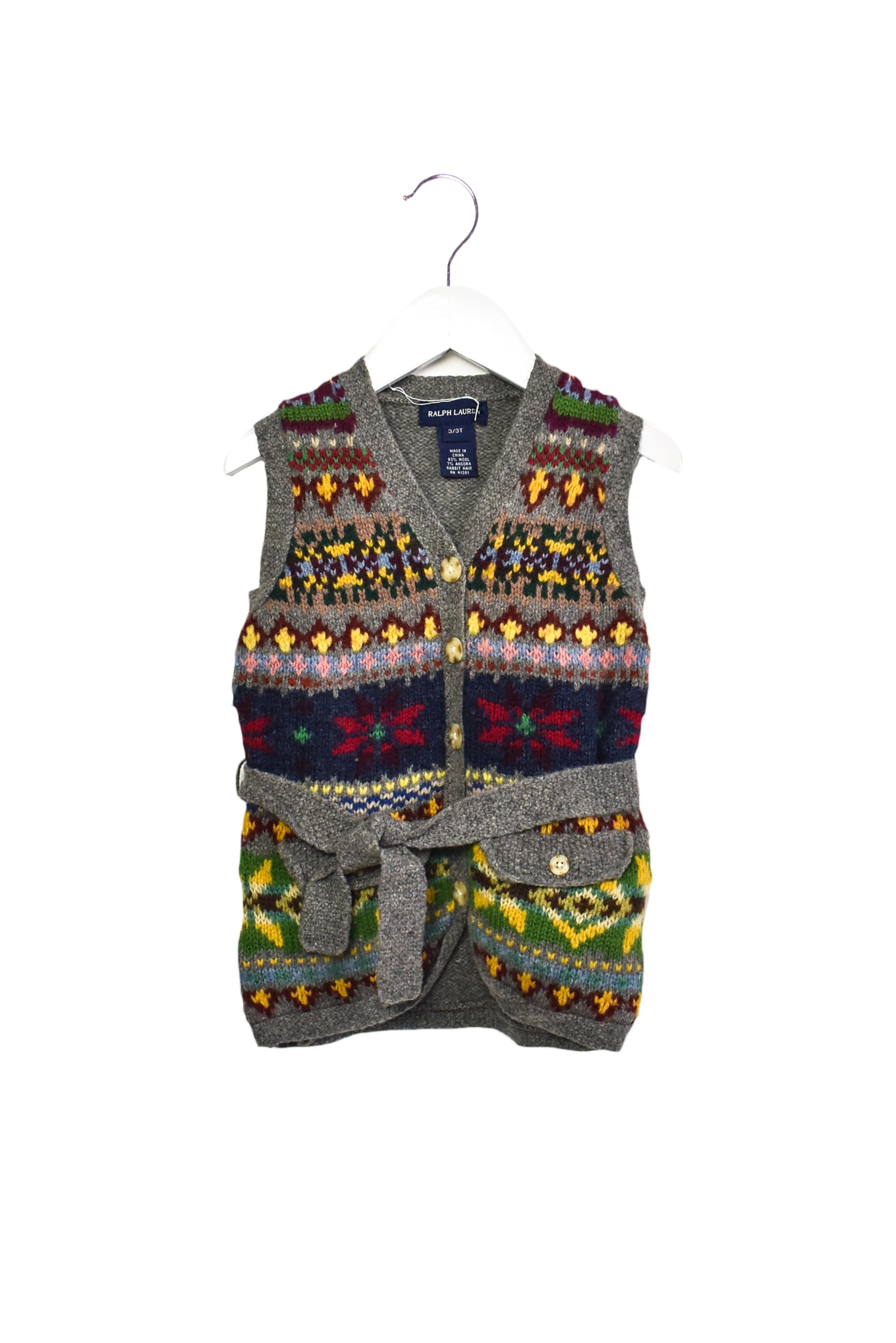 10013759 Ralph Lauren Baby ~ Knitted Vest 2T at Retykle