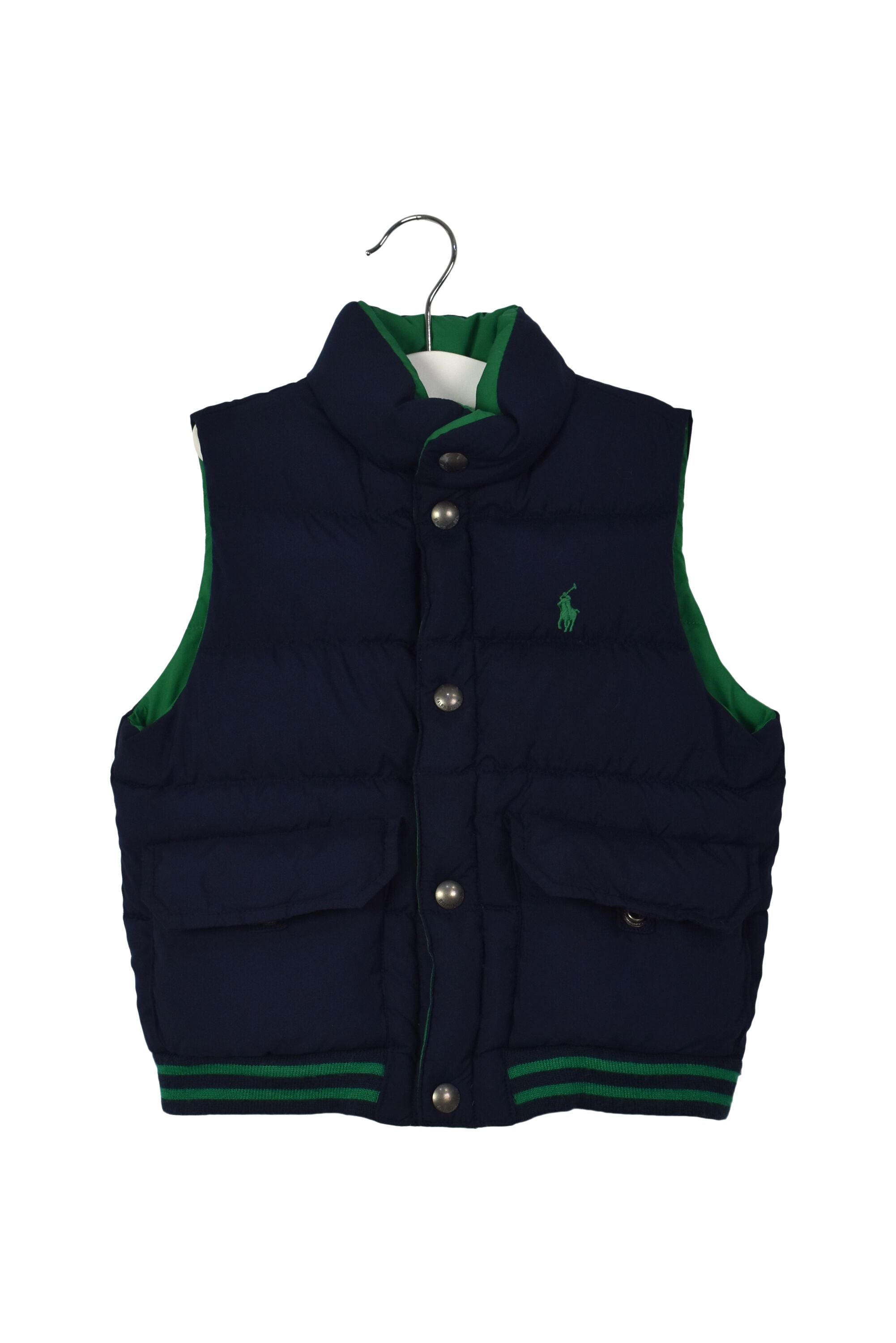 10039740B Ralph Lauren Kids~Reversible Puffer Vest 3T at Retykle