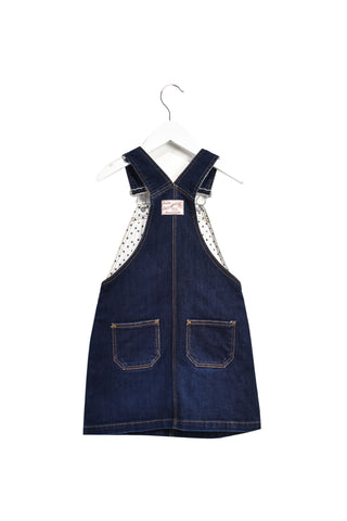 10022997 Petit Bateau Kids~Overall Dress 6T at Retykle