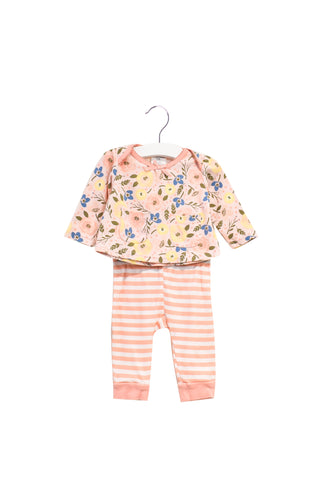 10022195 Laura Ashley Baby~Top, Pants, Beanie Set 3-6M