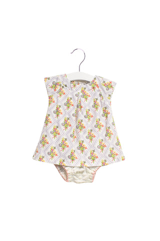 10024010 CIGOGNE Bebe Baby~Bodysuit Dress 3-6M at Retykle
