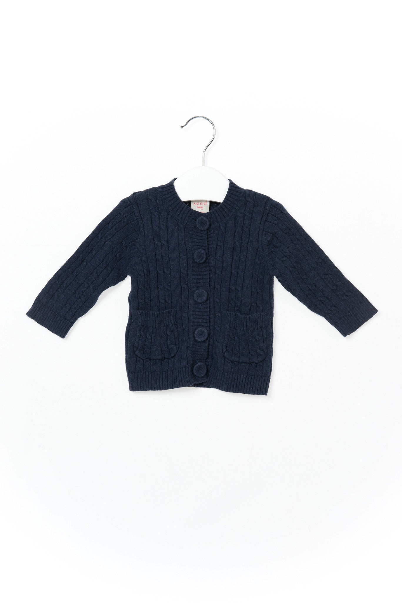 10001262 Seed Baby~Cardigan 0-3M at Retykle