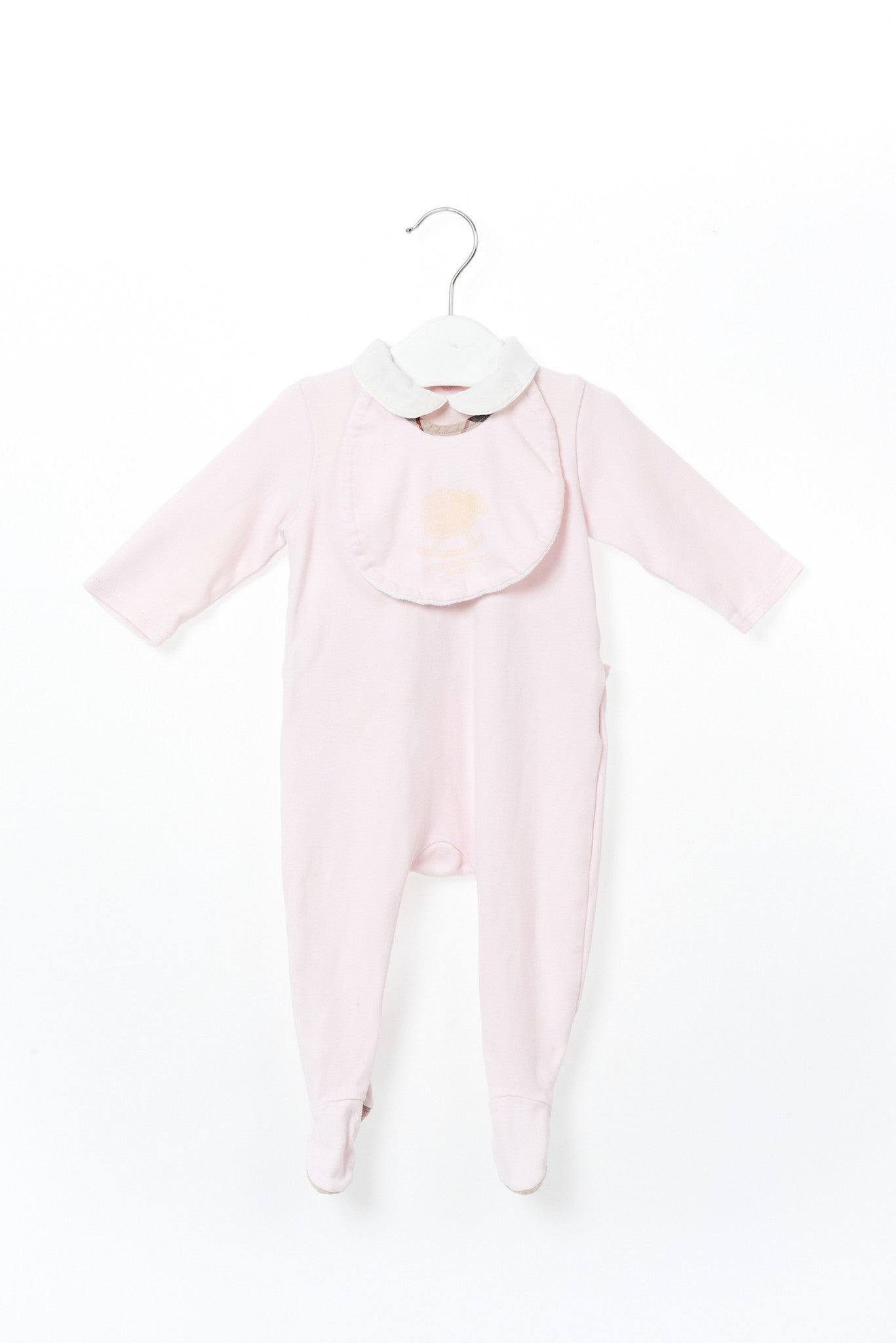 10001316 Burberry Baby~Jumpsuit and Bib 0-3M at Retykle