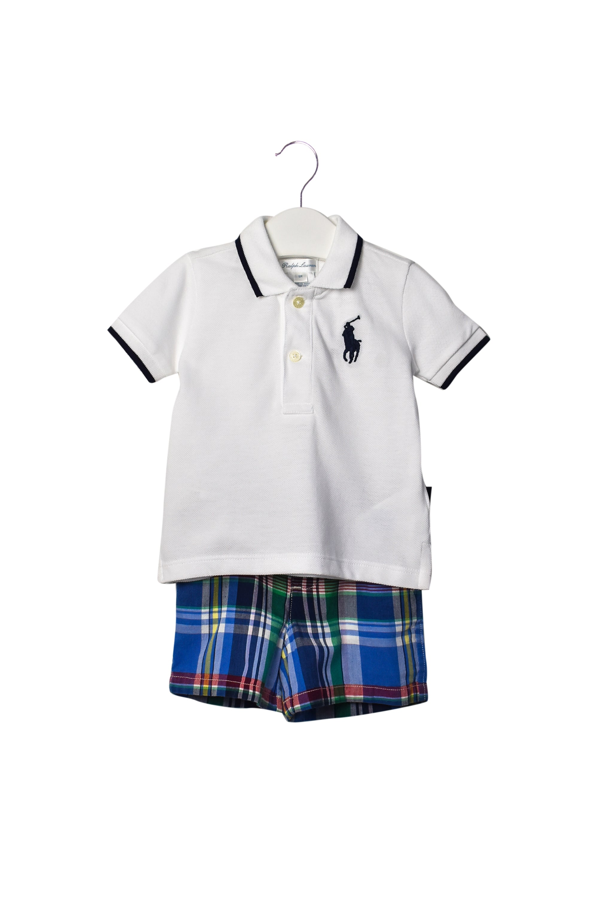 10008020 Ralph Lauren Baby ~ T-Shirt & Shorts Set 6M at Retykle