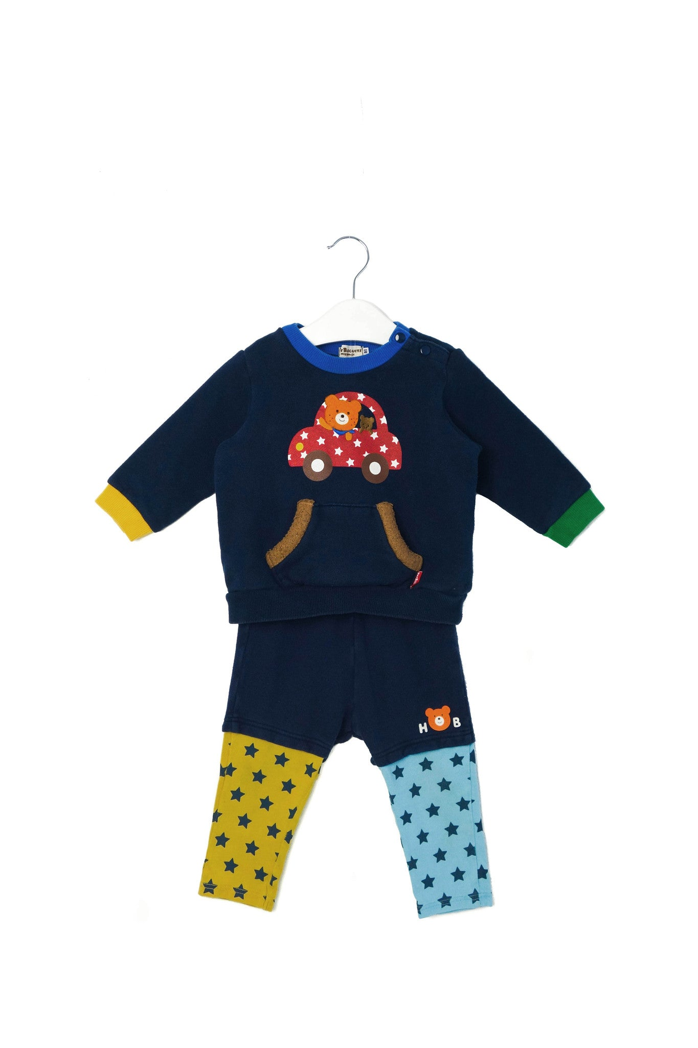 10003099 Miki House Baby~Sweatshirt and Pants 12-18M (80cm) at Retykle