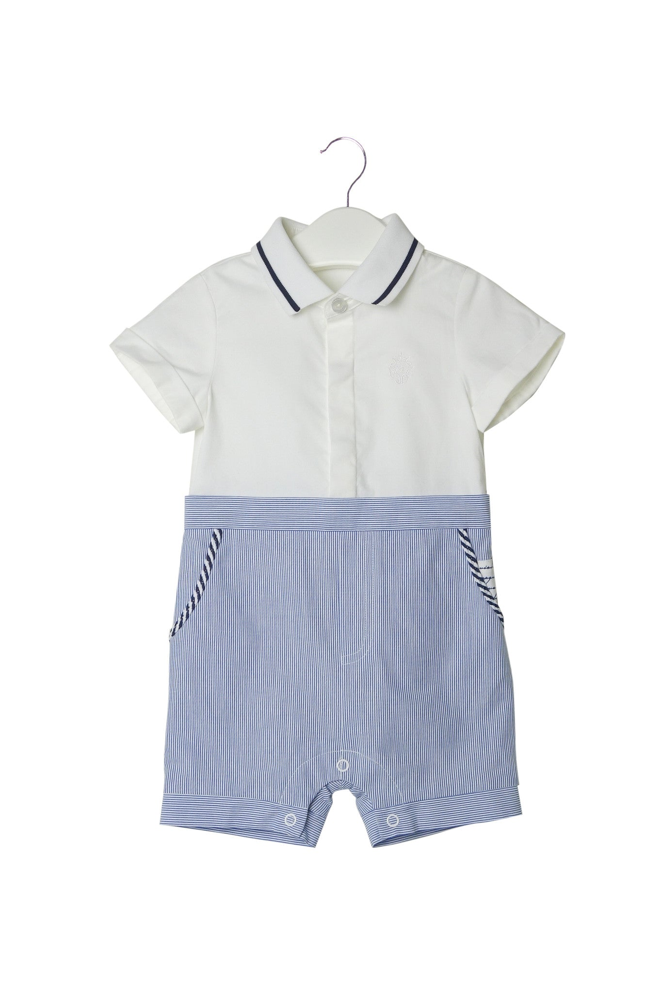 10002743 Nicholas & Bears Baby~Romper 6M at Retykle