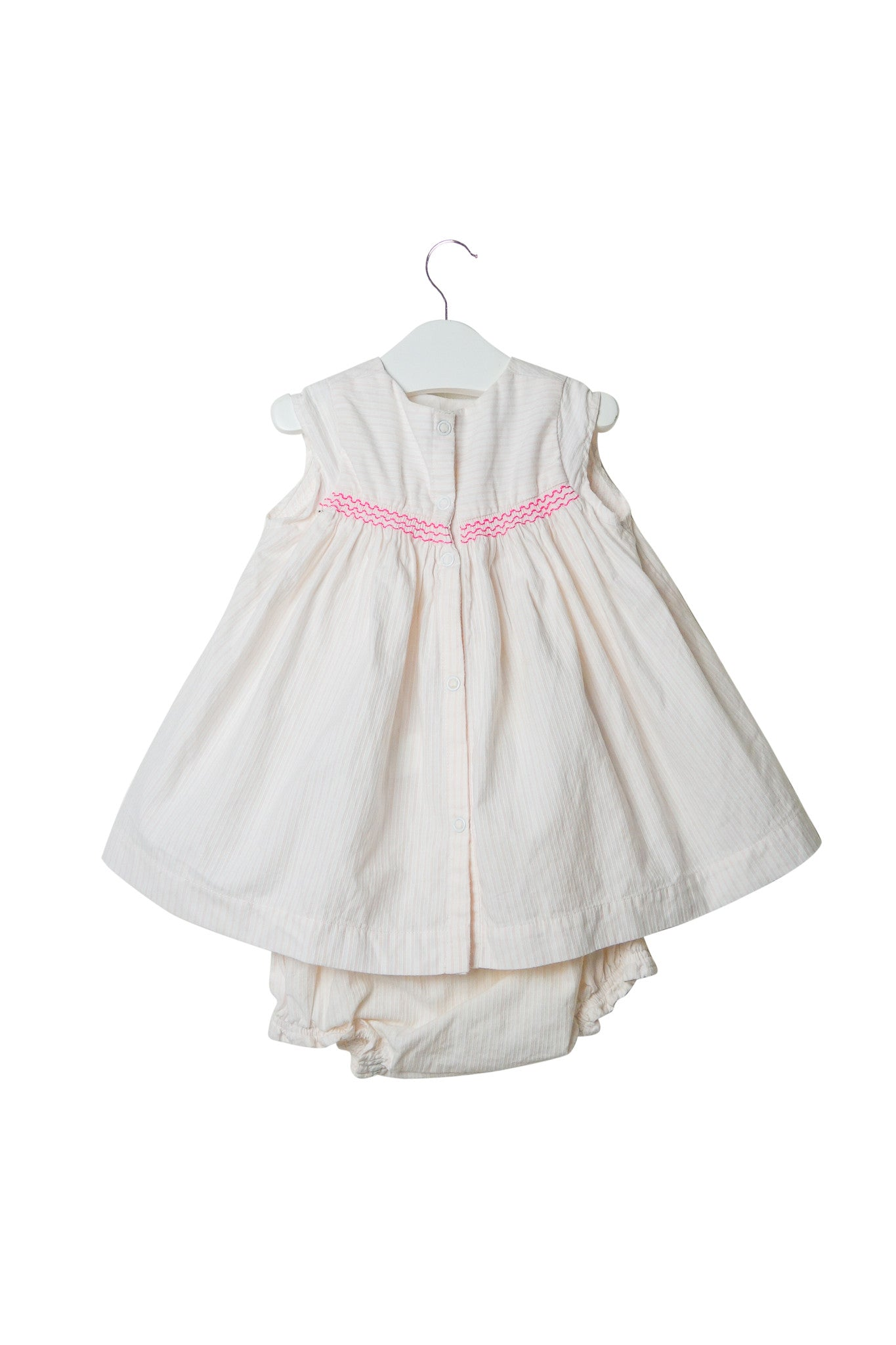 10002982 Petit Bateau Baby~Dress and Bloomer 3M at Retykle