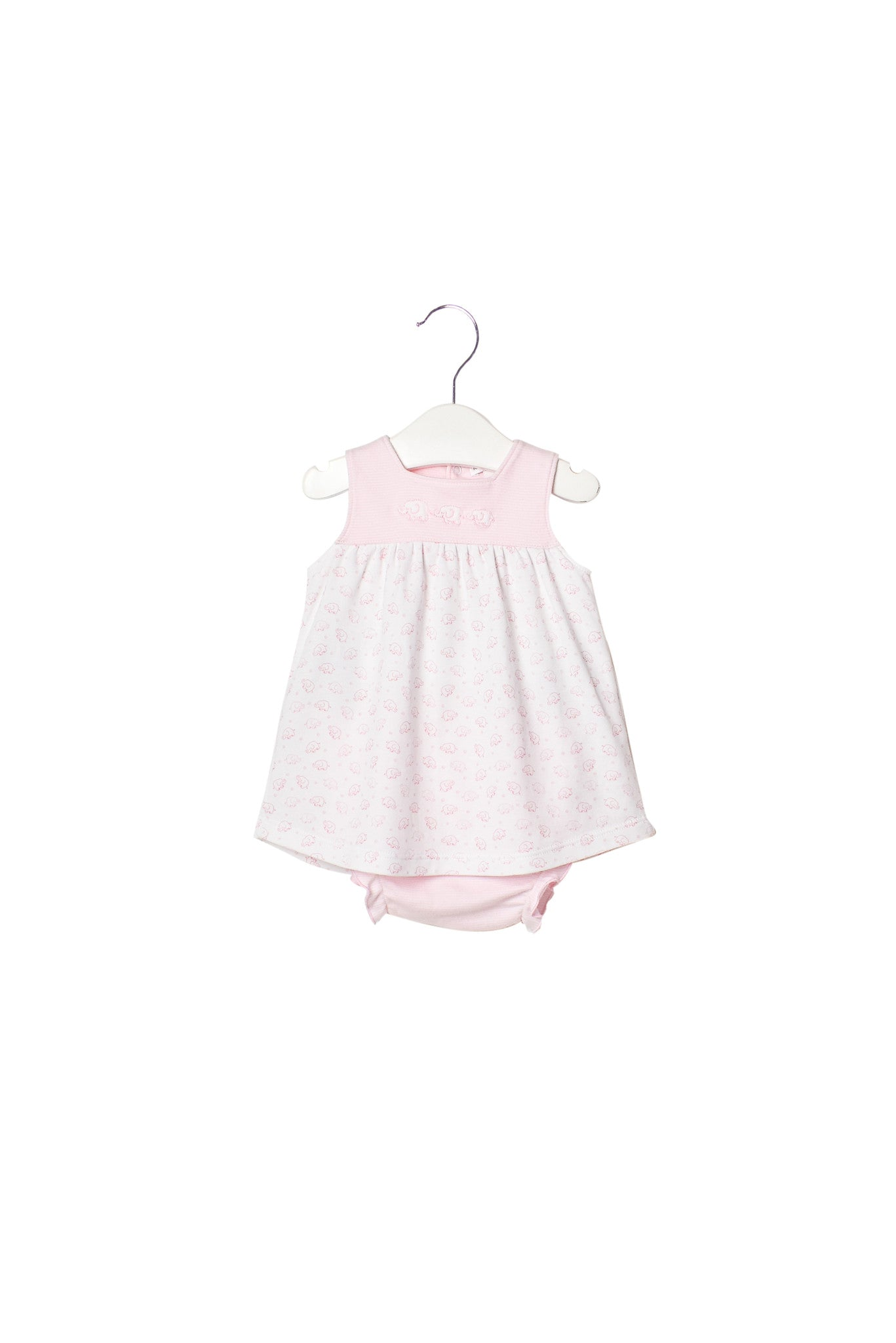 10003554 Kissy Kissy Baby~Dress and Bloomer 0-3M at Retykle