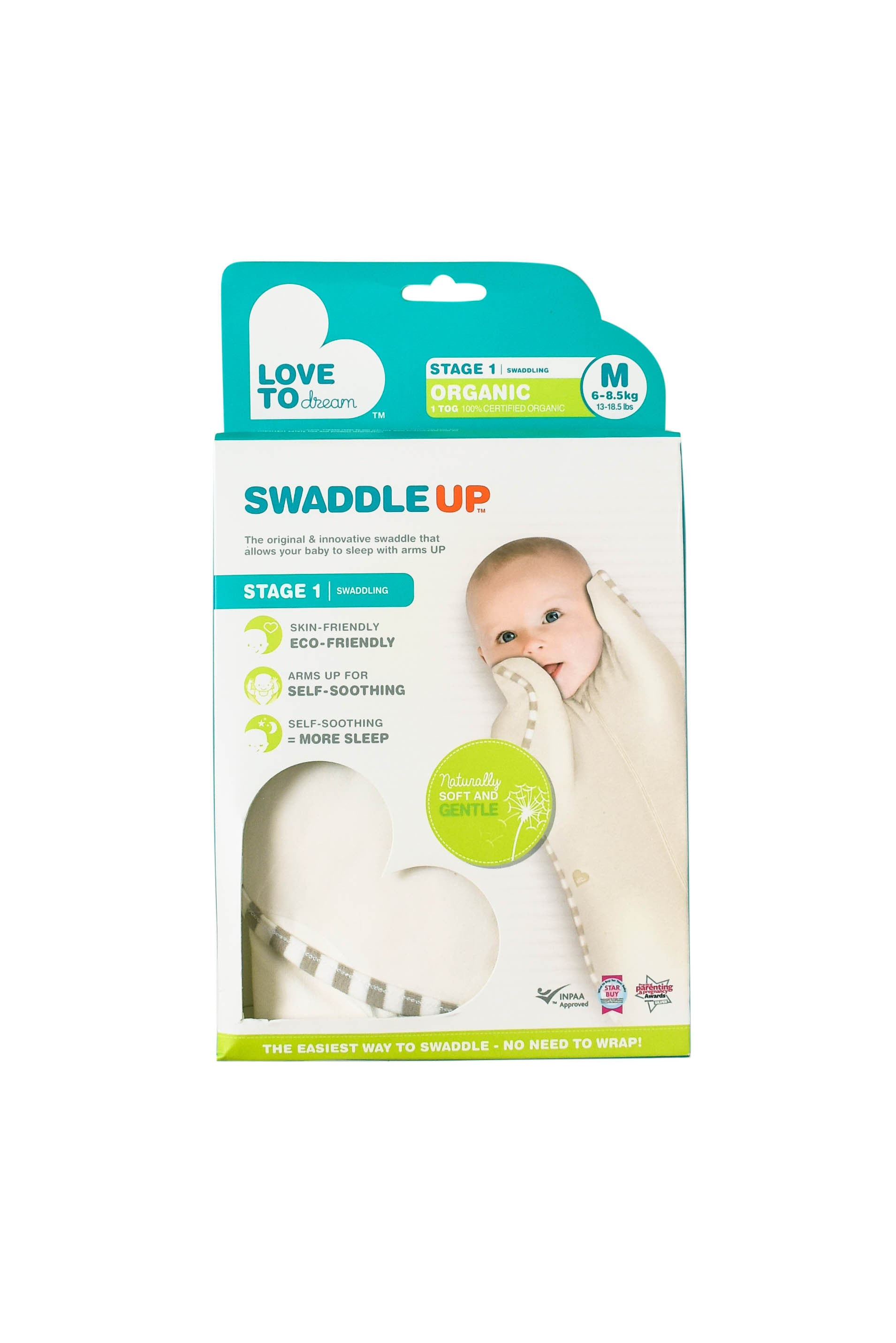 10003810 Love To Dream Baby~Swaddle 3-6M at Retykle