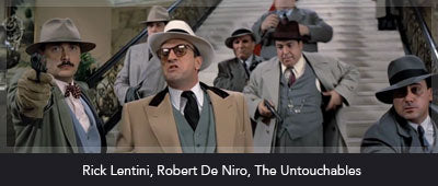 Lentini with Robert De Niro in The Untouchables