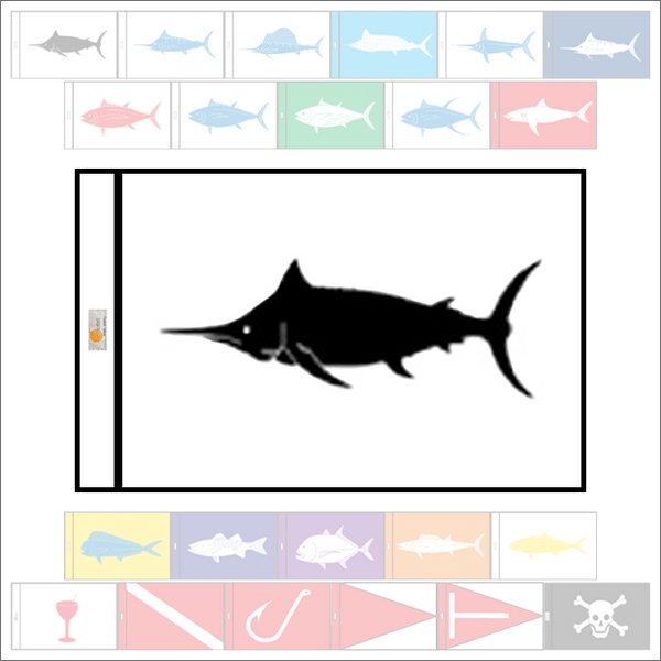Fish Capture Flags - Black Marlin Capture Flag - SunDot Fish Flags
