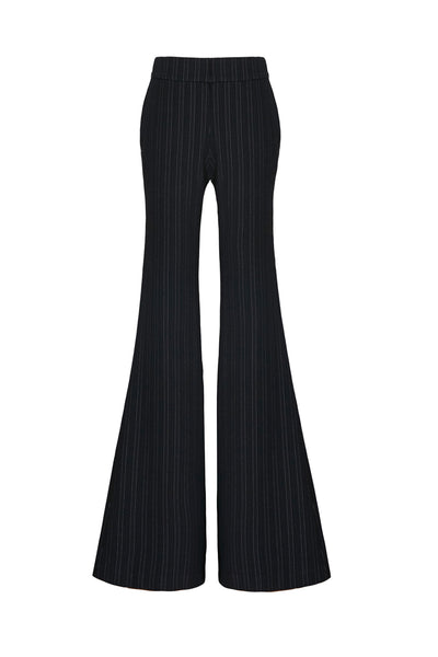 Black And Strip Flared Trouser