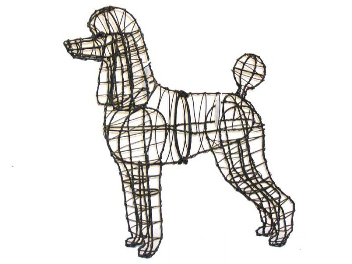 Poodle Topiary Wire Frame