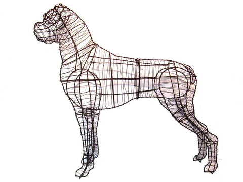 Boxer Topiary Wire Frame