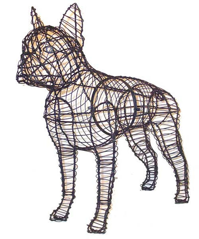 Boston Terrier Topiary Wire Frame